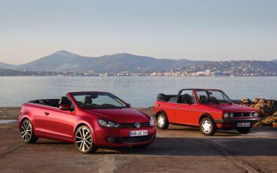 Volkswagen viert veertig jaar Golf Cabriolet