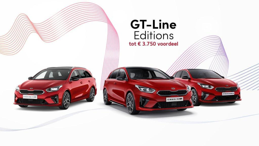 Kia lanceert 3 nieuwe GT-Line Editions